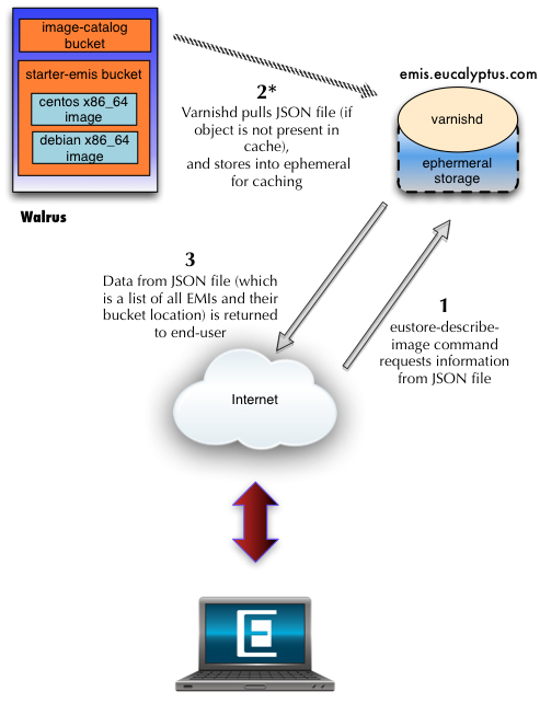 Diagram of eustore-describe-images