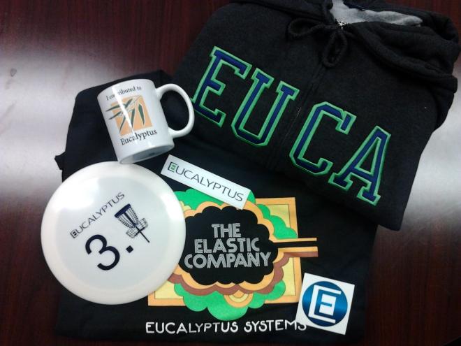 Eucalyptus Hoodie, Shirt, Coffee Mug, Frisbee, and Stickers