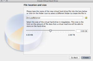 Create Virtual Hard Drive - Location and Size