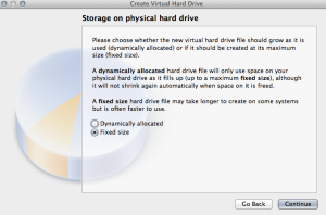 Select Fixed or Dynamic Hard Drive Type