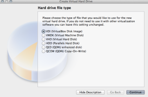 Select Hard Drive File Type