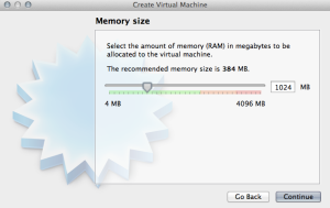 Create Virtual Machine - Memory Size