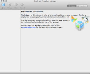 VirtualBox Welcome UI