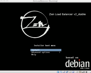Zen Load Balancer Splash Screen